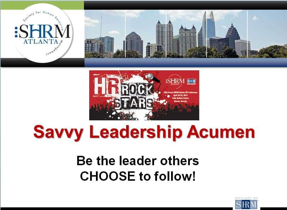 Savvy Leadership Acumen